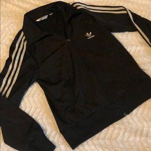 Adidas boys large athletic track jacket
